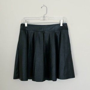 Forever 21 Faux Leather A-Line Skater Skirt
